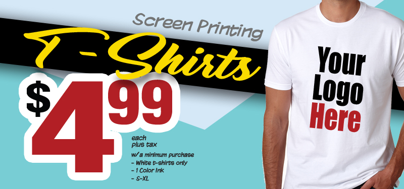 White T-Shirt Special for $4.99